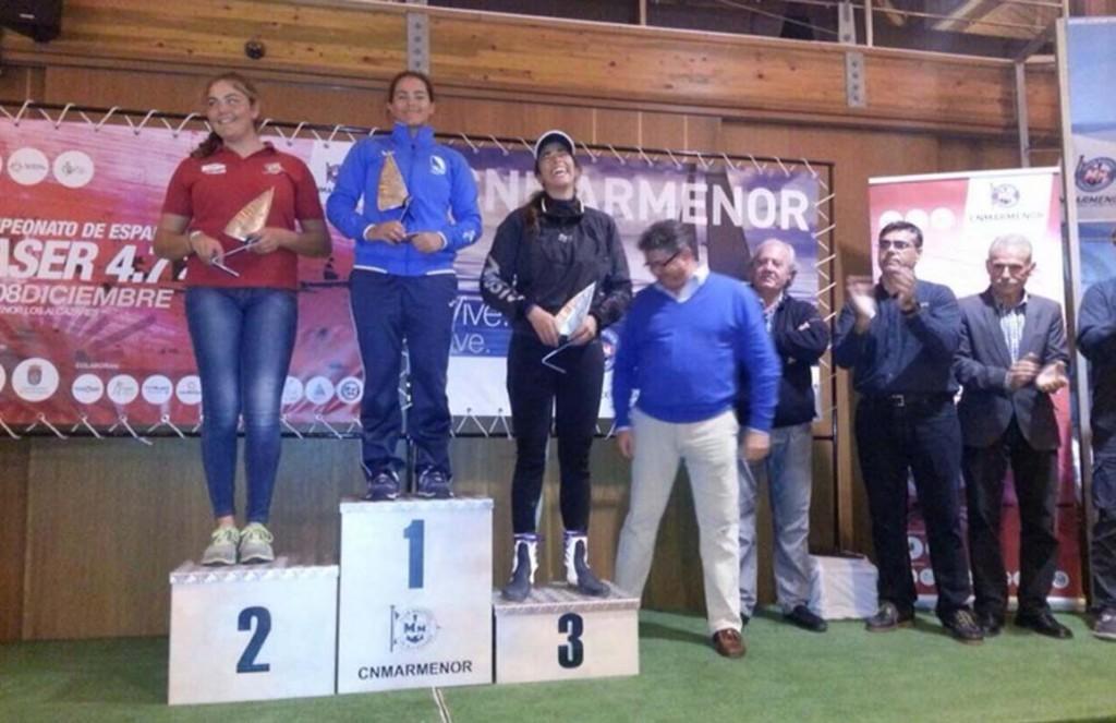 Paula Lissorgues y Alejandro Bethencourt, campeones de España de Láser 4.7