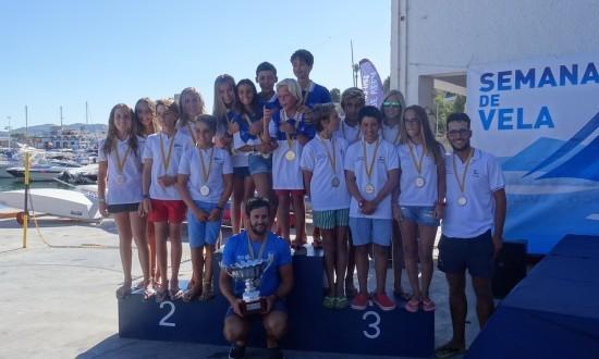 El Club Náutico de Jávea acogió el Campeonato Autonómico de Optimist por equipos
