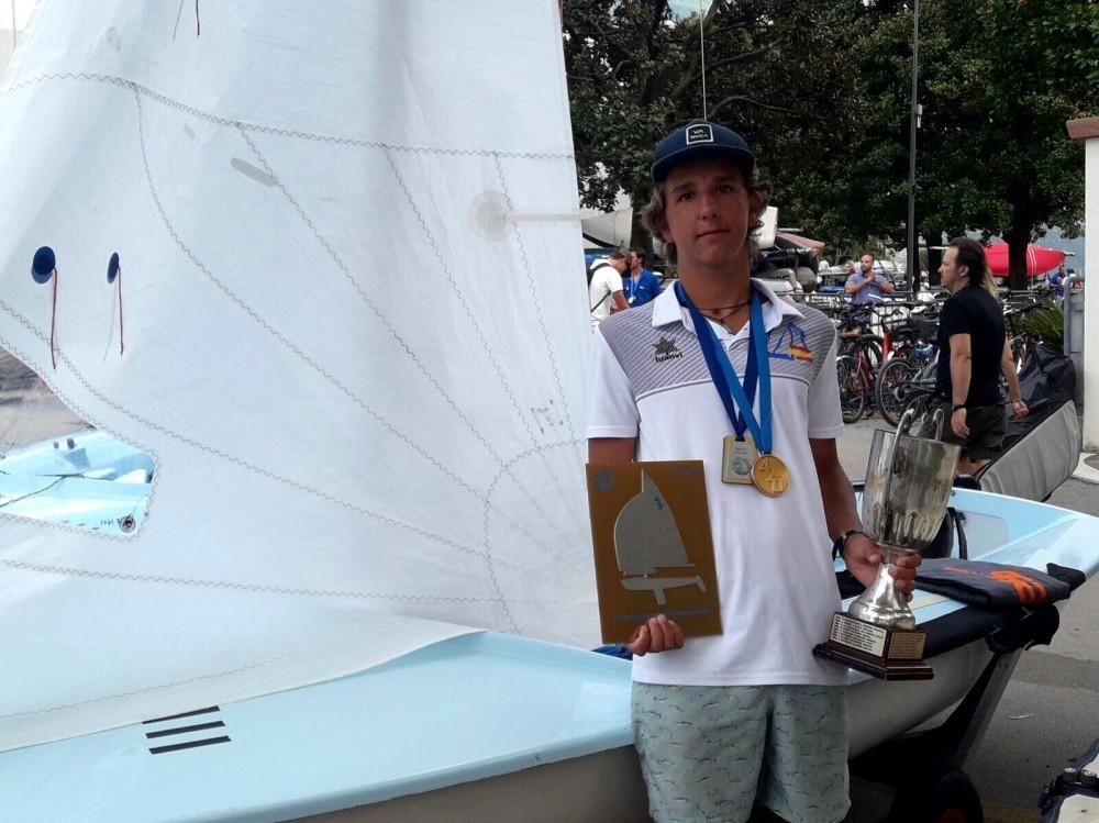Carlos Balaguer, campeón de Europa juvenil de 420, prepara el asalto al Mundial