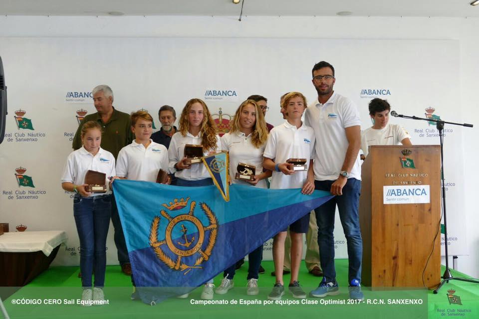 El CN Santa Pola queda 3º en el Campeonato de España Optimist por Equipos