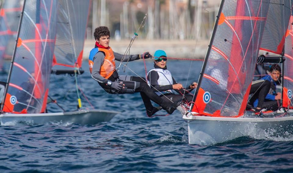 Los valencianos 'Quicorras' Urios y Filippo Beneti logran la cuarta plaza en el Nacional 29er en el Garraf