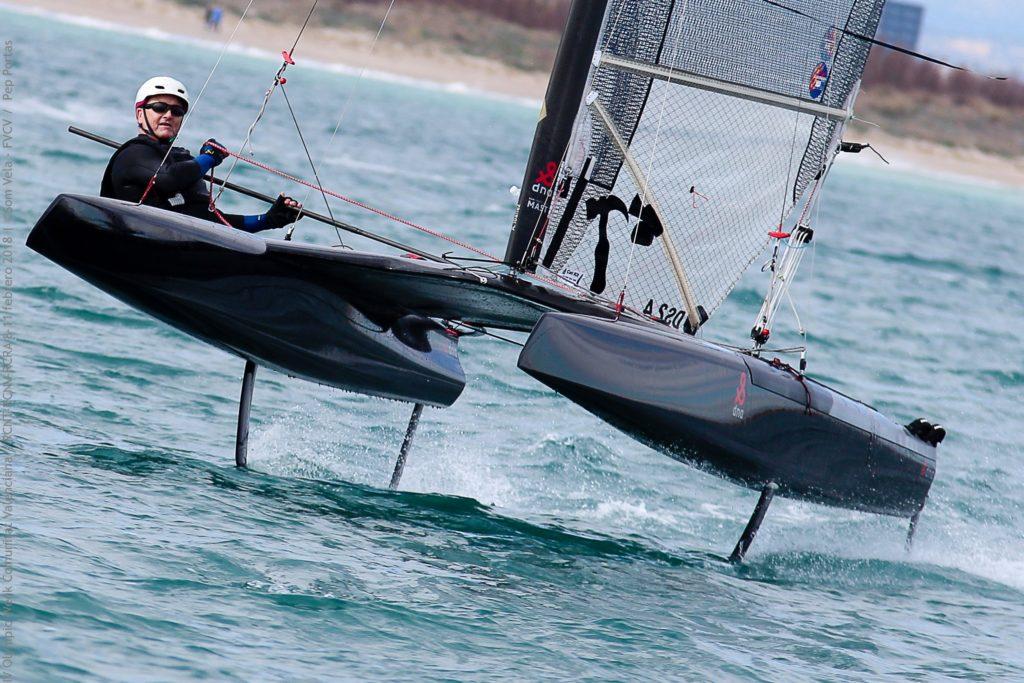 Abdón Ibáñez, campeón autonómico de catamaranes