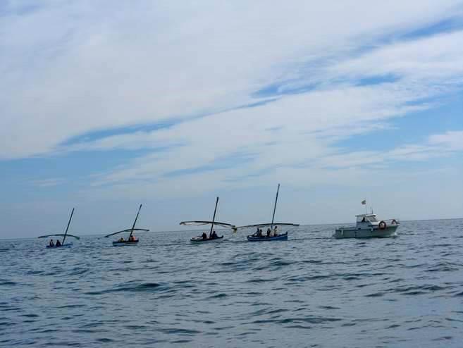 La embarcación Pelícano ganadora de nuestra X REGATA DE VELA LATINA