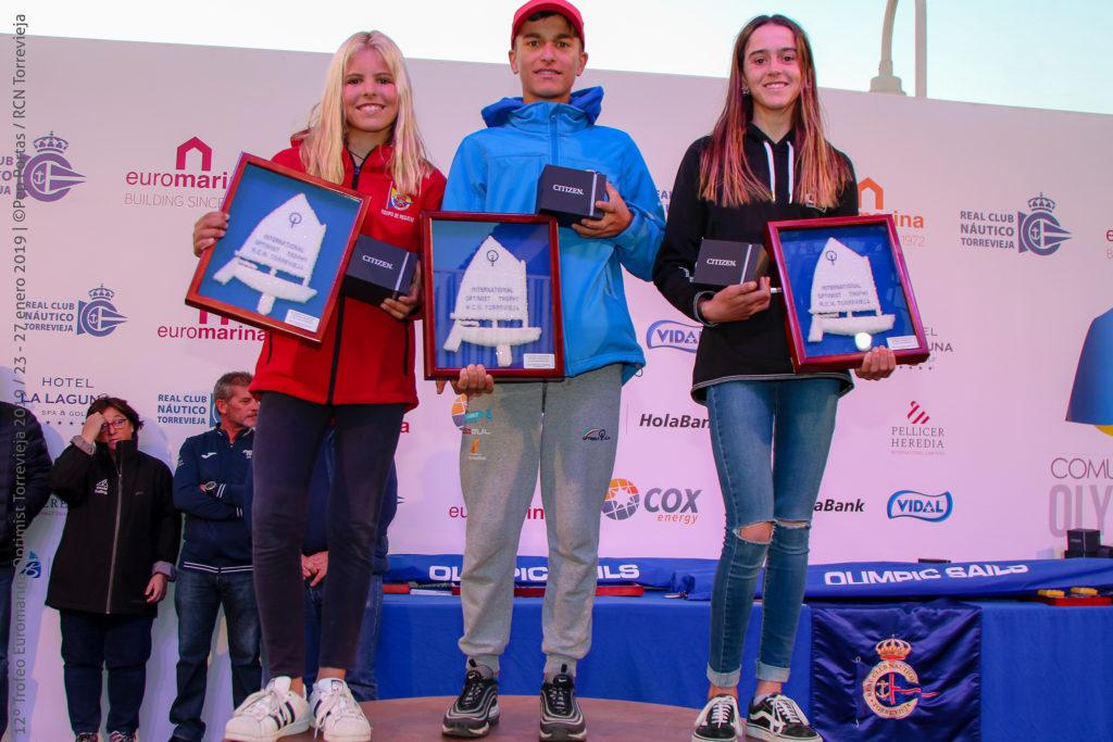 Marco Gradoni y Maria Perelló revalidan el Trofeo Euromarina Optimist Torrevieja