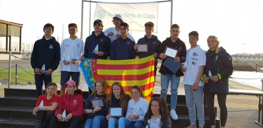 La vela de la Comunitat Valenciana manda en la Copa de España de Laser 4.7 en Cádiz