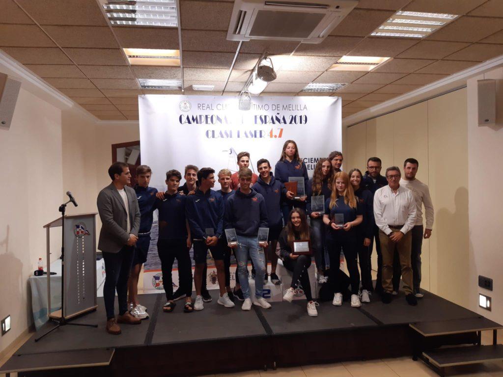 Ana Clavero y la Comunitat Valenciana se proclaman campeones de España Laser 4.7